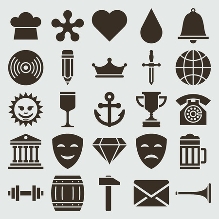 Vintage retro icons set vector design elements  Vector