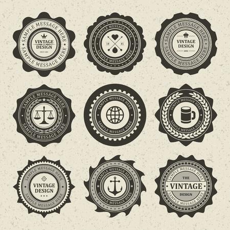 Vintage style retro emblem label collection vector design elements   Stock Vector - 13014439