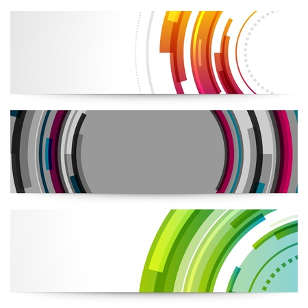 Abstract trendy vector banner or header set eps 10 Vector
