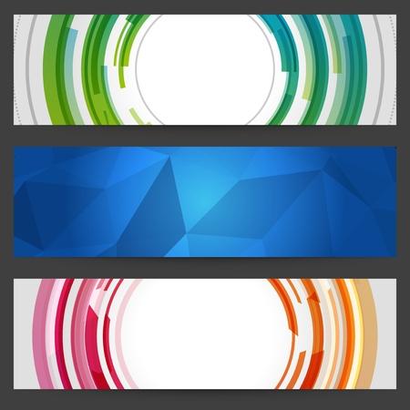 Abstract trendy vector banner or header set eps 10 Stock Vector - 13014412