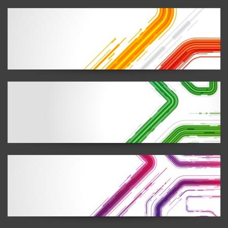 web banner: Abstract trendy vector banner or header set eps 10