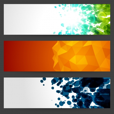 banner: Abstract trendy vector banner or header set eps 10