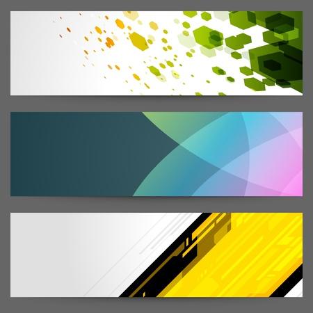 Abstract trendy vector banner or header set eps 10 Vector