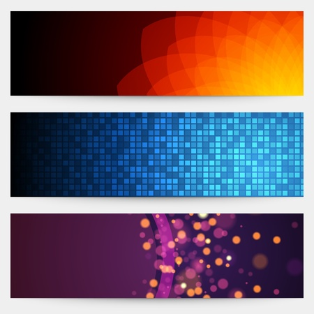 Abstract trendy vector banner or header set eps 10 Stock Vector - 13014419
