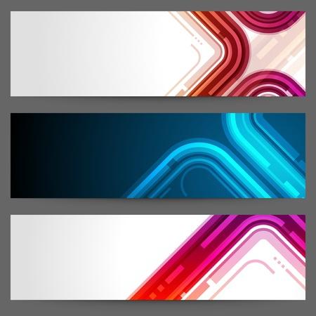 Abstract trendy vector banner or header set eps 10 Stock Vector - 13014414