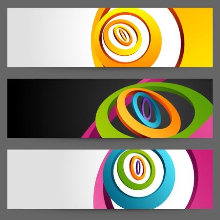 Abstract trendy vector banner or header set eps 10 Stock Vector - 13014394