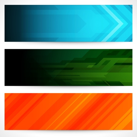 background banner: Abstract trendy vector banner or header set eps 10