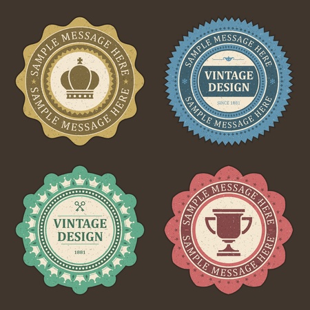 Vintage labels set design elements Stok Fotoğraf - 13500834