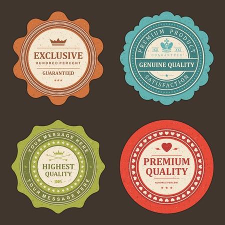 Étiquettes Vintage définir des éléments de conception