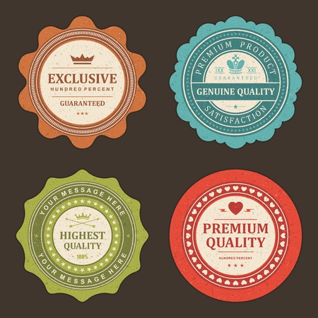 Vintage labels set design elements