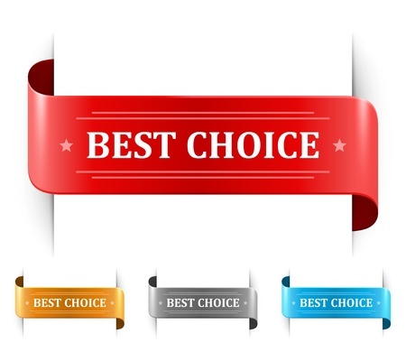 bookmarks and best choice message Stock Vector - 13500789