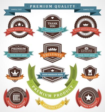 Vintage labels and ribbons set  design elements