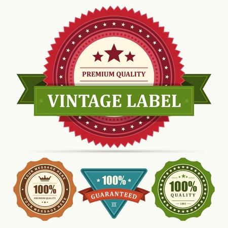 zeehonden: Vintage etiketten en lint set ontwerp elementen