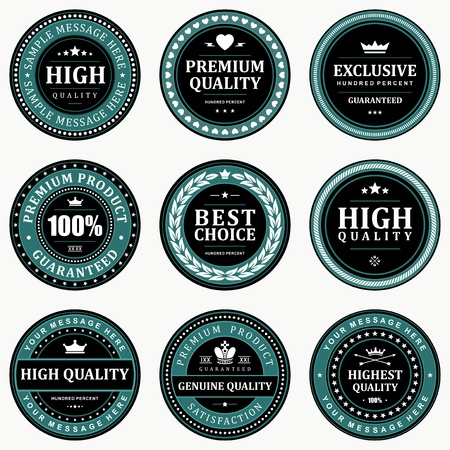 Vintage labels set design elements  Vectores