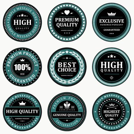 retro badge: Vintage labels set design elements  Illustration