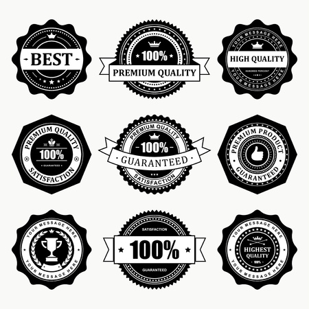 Vintage labels set  design elements Vector