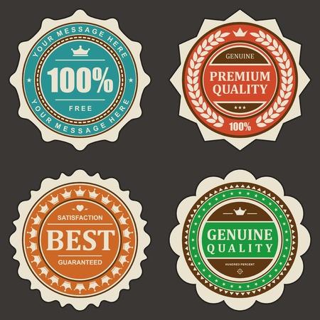 Vintage labels set design elements Stock Vector - 13500693