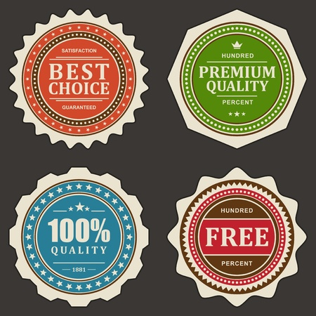 Vintage labels set  design elements  Stock Vector - 13500685