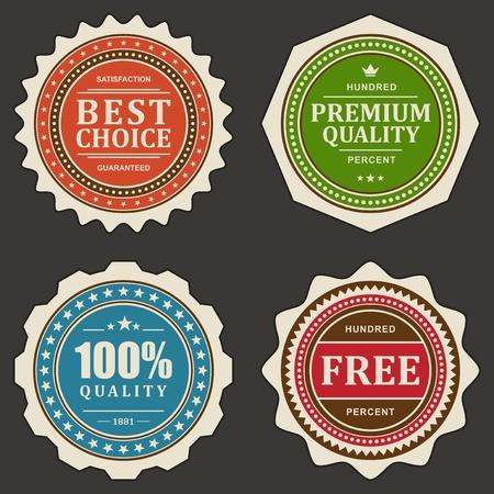 Vintage labels set  design elements Stock Vector - 13500685