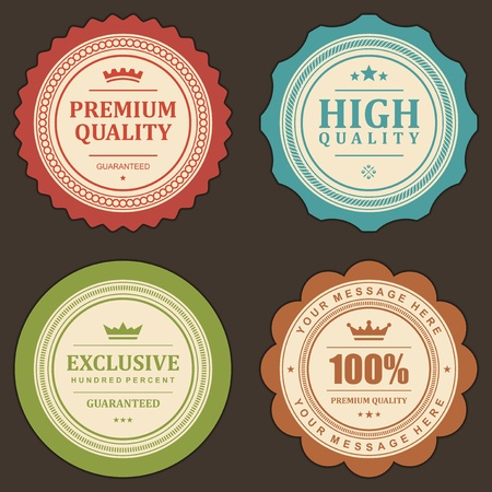 Vintage labels set  design elements   Illustration