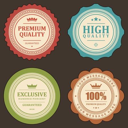Vintage labels set  design elements   Stock Vector - 13500727