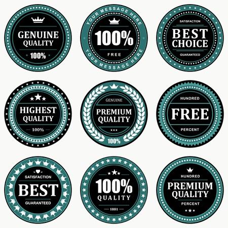 warranty: Vintage labels set  design elements
