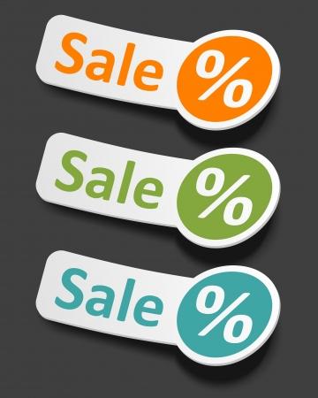 Vector sale stickers set Stock Vector - 13908204