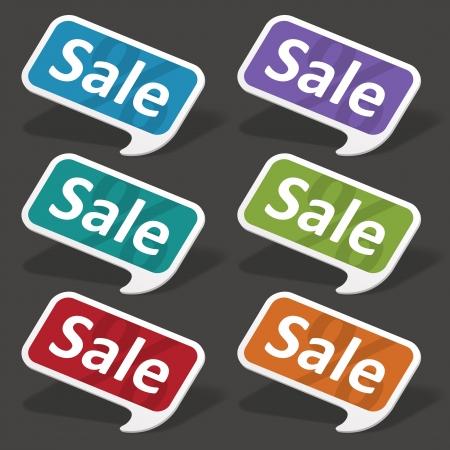 Vector sale speech bubbles set Stock Vector - 13908210