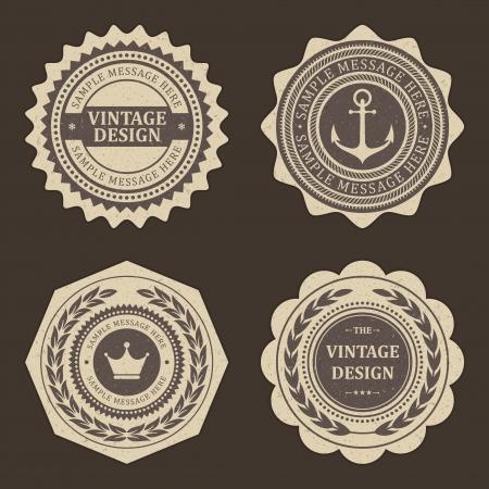 corona: Vintage labels set vector design elements