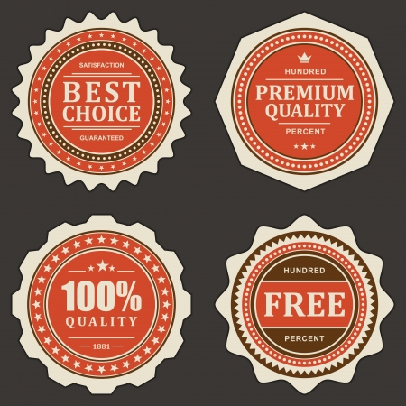 Vintage labels set vector design elements Stock Vector - 13908206