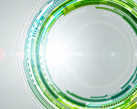 ellipses: Abstract technology circles and light effects vector background  Illustration