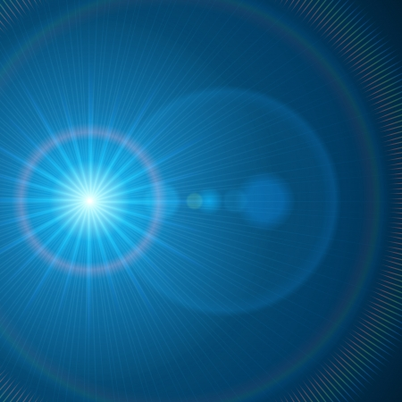 lens flare: Abstraction light with lens flare vector background