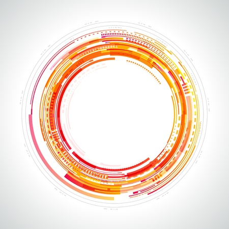Abstract technology circles and light effects background Vector