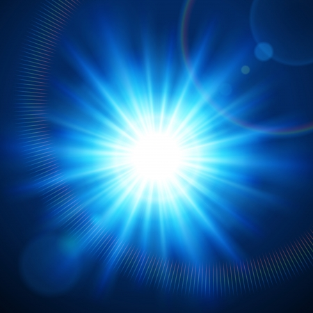 Abstraction light with lens flare vector background  Stock Vector - 13908278