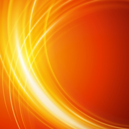 orange swirl: Abstract smooth light lines vector background