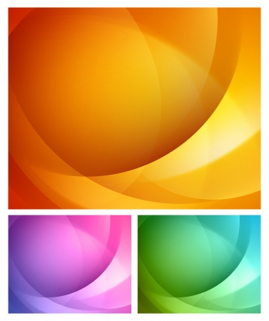 Abstract shapes swirl vector backgrounds set  Illustration