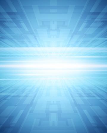 perspektiv: Abstrakt 3d virtuella rymden, vektor, bakgrund Illustration