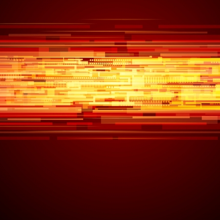 Abstract shiny technology lines and light vector background  Vector