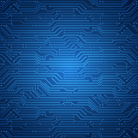 microchip: Abstract retro technology microchip vector background Illustration