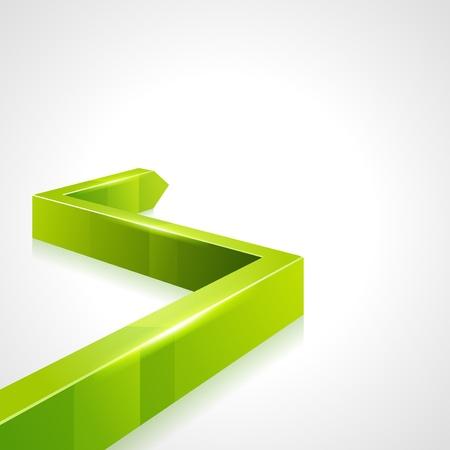 directiva: Flecha verde de gr�ficos 3D ascender de vectores de fondo Vectores