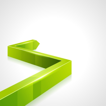 directive: Green 3d graph arrow move up vector background