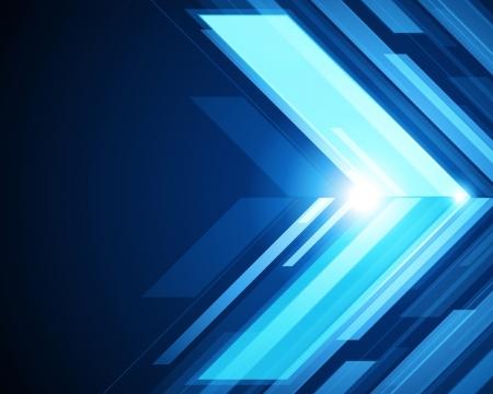 Abstract 3d-Technologie Linien mit Licht Vektor Hintergrund