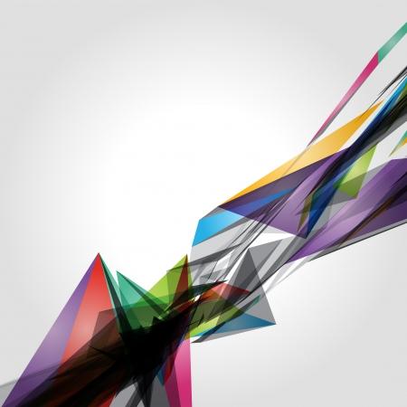 Abstract 3d geometric lines modern grunge