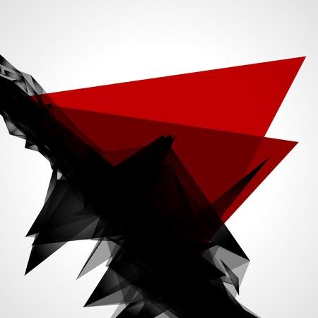 Abstract 3d geometrische Linien modernen Grunge