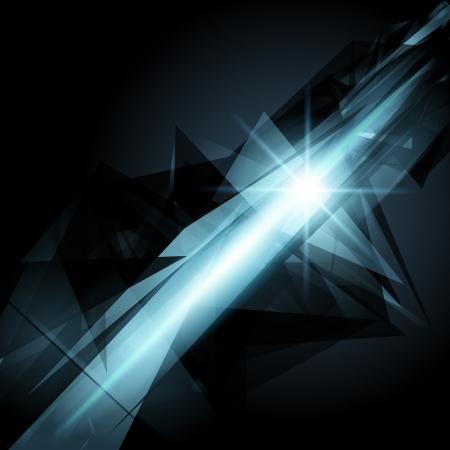 Abstract 3d geometricbroken glass lines modern grunge  Illustration