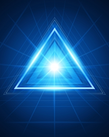 3d abstract triangle tunnel vector background Vector