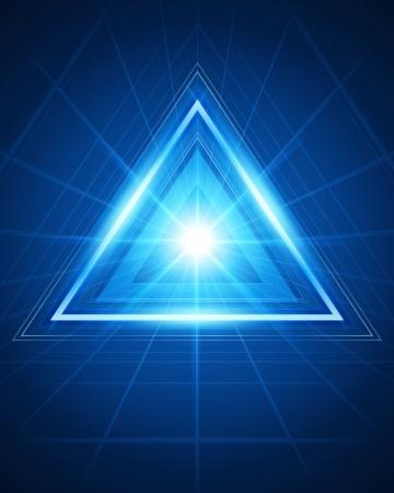 triangulo: 3d abstracto t�nel de tri�ngulo de vectores de fondo