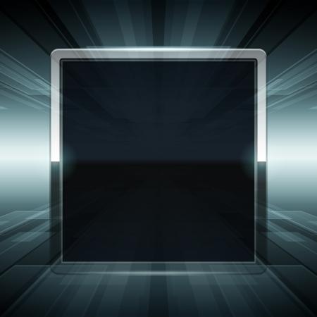 virtual space: Lo spazio virtuale dello schermo con sfondo vettoriale