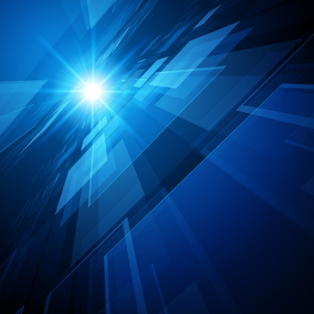 fondos azules: Resumen 3d espacio virtual de vectores de fondo Vectores