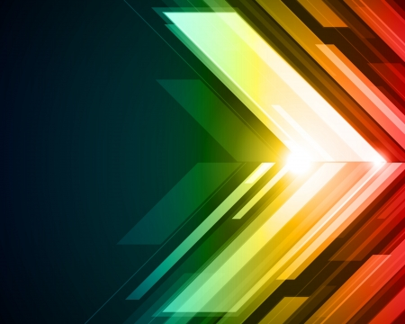techno background: Abstract 3d technology lines with light vector background